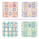 Bezszwowi wzory w pastelowych kolorach ilustracji