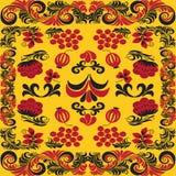 Bezszwowi wzory w tradycyjnym rosjaninie projektują Hohloma (gatunek Obraz Stock