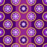 Bezszwowi wzory z abstrakty malującymi kwadratami Obrazy Royalty Free