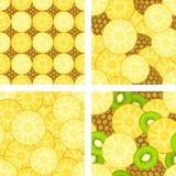 Bezszwowi wzory z ananasem Obraz Royalty Free
