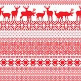 Bezszwowi wzory z Lapland Obrazy Royalty Free