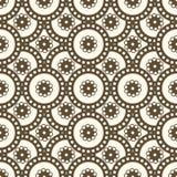 Bezszwowi wzory z okręgami Zdjęcia Stock