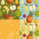 Bezszwowi wzory z owoc Zdjęcia Royalty Free