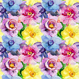 Bezszwowi wzory z Pięknymi kwiatami Fotografia Stock