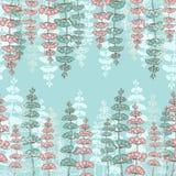 Bezszwowi wzory z Rysunkowymi sprigs Zdjęcie Royalty Free