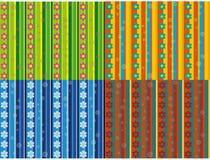 Bezszwowi wzory z rzędami kwiaty Obrazy Stock