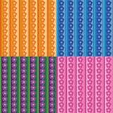 Bezszwowi wzory z rzędami kwiaty Fotografia Royalty Free