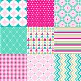 Bezszwowi wzory z tkaniny teksturą Obraz Royalty Free