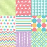 Bezszwowi wzory z tkaniny teksturą Zdjęcia Royalty Free