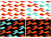 Bezszwowi wzory z złotą ryba Zdjęcie Royalty Free