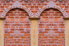 Bezszwowy ściana z cegieł tekstury tło Zdjęcia Stock