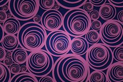 Bezszwowy ślimakowaty fiołka wzór z zmrokiem - błękitny tło obraz royalty free