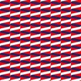Bezszwowy ślimakowaty tasiemkowy falowy wzór w czerwieni, bielu i błękicie, royalty ilustracja