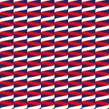 Bezszwowy ślimakowaty tasiemkowy falowy wzór w czerwieni, bielu i błękicie, ilustracja wektor