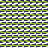 Bezszwowy ślimakowaty tasiemkowy falowy wzór w wapna błękicie i zieleni ilustracji