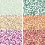 Bezszwowy ślimakowaty wektoru wzór w lekkich różnorodnych kolorach zdjęcie stock