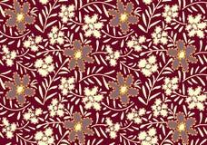 Bezszwowy śmiały abstrakcjonistyczny kwiatu projekt ilustracji