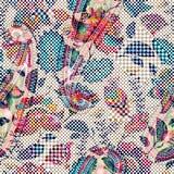 bezszwowy światło kwiecisty wzór Ręka rysujący tło kolorowe tło Wzór może używać dla tkaniny, tapeta Fotografia Stock