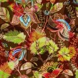 bezszwowy światło kwiecisty wzór Ręka rysujący tło kolorowe tło Wzór może używać dla tkaniny, tapeta Obraz Royalty Free