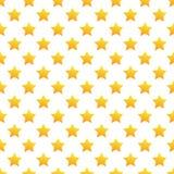 Bezszwowy żółty gwiazda wzór na bielu Zdjęcie Royalty Free
