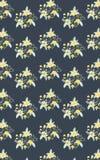 Bezszwowy żółty Kwiecisty wzór Zdjęcia Royalty Free