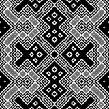 Bezszwowy abstrakcjonistyczny czarny i biały sześcianu tło Obraz Royalty Free
