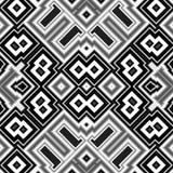 Bezszwowy abstrakcjonistyczny czarny i biały sześcianu tło Fotografia Royalty Free