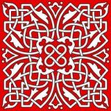 Bezszwowy abstrakcjonistyczny dekoracja wzór Zdjęcia Royalty Free
