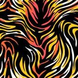 Bezszwowy abstrakcjonistyczny dziki egzotyczny zwierzęcy druk Lampart, zebra, gepard Obrazy Royalty Free