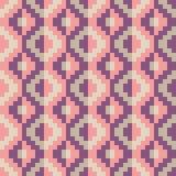 Bezszwowy abstrakcjonistyczny geomatric piksla diamentu wzór w wektorze Fotografia Royalty Free
