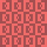 Bezszwowy abstrakcjonistyczny geomatric piksla placu czerwonego patternk Fotografia Royalty Free