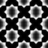 Bezszwowy abstrakcjonistyczny geometryczny halftone wzór Wzór gwiazdy Kropkuje teksturę Obrazy Stock