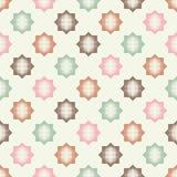 Bezszwowy abstrakcjonistyczny geometryczny halftone wzór Wzór gwiazdy Kropkuje teksturę Fotografia Stock