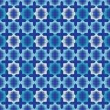 Bezszwowy abstrakcjonistyczny geometryczny halftone wzór Wzór gwiazdy Kropkuje teksturę Zdjęcia Stock