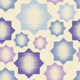 Bezszwowy abstrakcjonistyczny geometryczny halftone wzór Wzór gwiazdy Kropkuje teksturę Zdjęcie Royalty Free