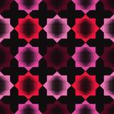 Bezszwowy abstrakcjonistyczny geometryczny halftone wzór Wzór gwiazdy Kropkuje teksturę Obraz Stock
