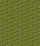 Bezszwowy abstrakcjonistyczny geometryczny heksagonalny wzór - wektor eps8 royalty ilustracja