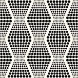 Bezszwowy abstrakcjonistyczny geometryczny kropki tło Zdjęcie Royalty Free