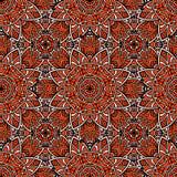 Bezszwowy abstrakcjonistyczny geometryczny kwiecisty wzór Zdjęcie Royalty Free