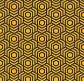 Bezszwowy abstrakcjonistyczny geometryczny wzór z sześciokątami - eps8 ilustracji