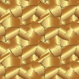 Bezszwowy abstrakcjonistyczny kruszcowy złocisty tło Fotografia Royalty Free