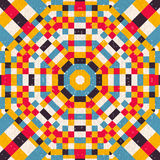 Bezszwowy abstrakcjonistyczny kurenda wzór royalty ilustracja