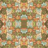 Bezszwowy Abstrakcjonistyczny Plemienny wzór & x28; Vector& x29; Zdjęcia Royalty Free