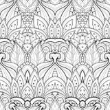 Bezszwowy Abstrakcjonistyczny Plemienny wzór (wektor) royalty ilustracja