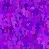 Bezszwowy abstrakcjonistyczny przypadkowy strzała wzoru tło - wektorowy graficzny projekt od purpury zaokrąglać przednich strzała Obraz Royalty Free