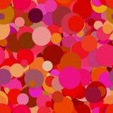 Bezszwowy abstrakcjonistyczny purpurowy przypadkowy kropki tło ilustracja wektor