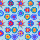 Bezszwowy abstrakcjonistyczny rozochocony kolorowy wzór Ilustracji