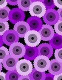 Bezszwowy abstrakcjonistyczny tło komponujący od cogwheel Obrazy Royalty Free