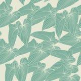 Bezszwowy abstrakcjonistyczny tło z liśćmi również zwrócić corel ilustracji wektora Obraz Stock
