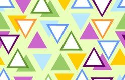 Bezszwowy abstrakcjonistyczny tło z kolorowymi trójbokami Zdjęcie Stock